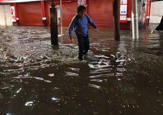 Lluvias históricas los últimos dos días en la Ciudad de México