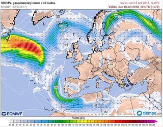 Lluvias muy intensas y persistentes para el 18-19 de octubre de 2018 en el área mediterránea ¿Por qué, cuánto y dónde?