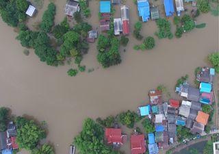 Lluvias torrenciales con inundaciones al sur de México