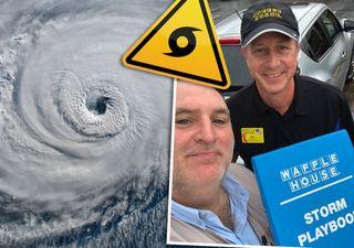 Los bares de gofres como indicadores de la severidad de los huracanes