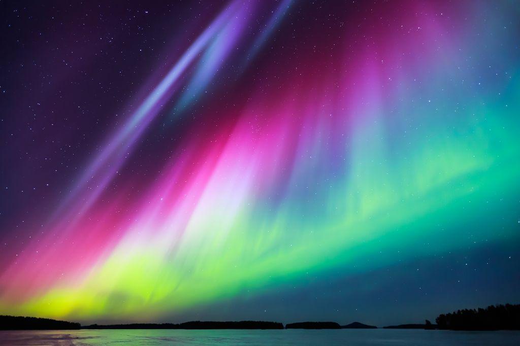 Aurora polar multicolor