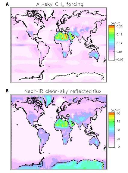 Los Efectos Del Metano Sobre La Luz Solar Varían Según La Región