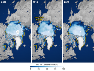 Los hielos del Ártico a la baja en 2020