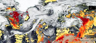 Los humos de los incendios de América del Norte saltan el Atlántico
