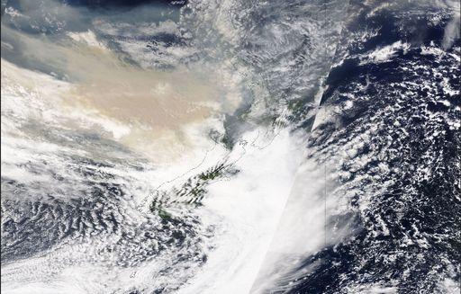 Los incendios australianos colorean los glaciares de Nueva Zelanda