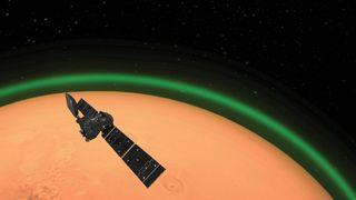 Los misteriosos resplandores verdes marcianos