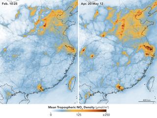 Los niveles de dióxido de nitrógeno rebotan en China