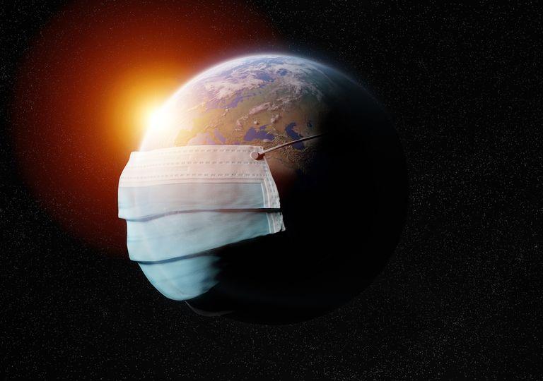 Planeta Tierra con pandemia