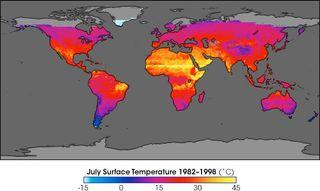Los satélites de la NASA revelan la tendencia al calentamiento