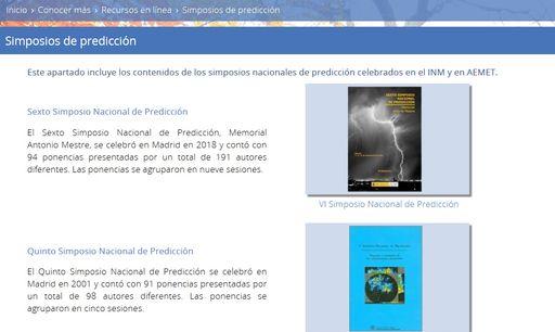Los Simposios de predicción de AEMET/INM ahora on-line
