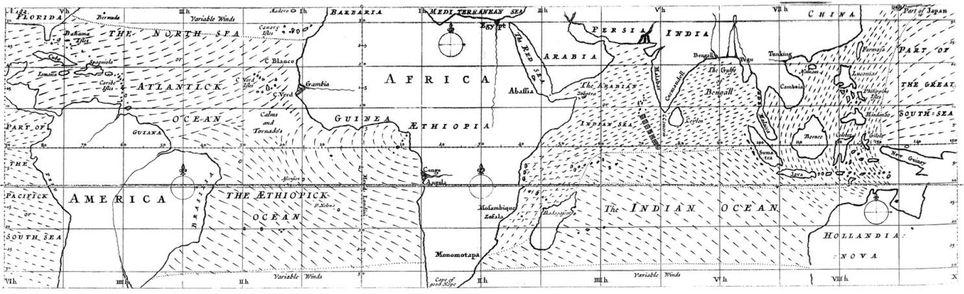 Halley alisios mapa