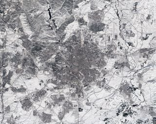 Madrid nevado visto por Sentinel-2