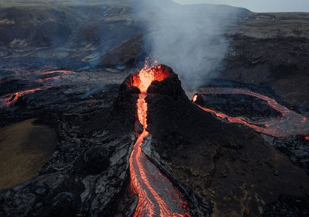 Hollywood-style volcanic eruptions less damaging than lower-magnitude eruptions