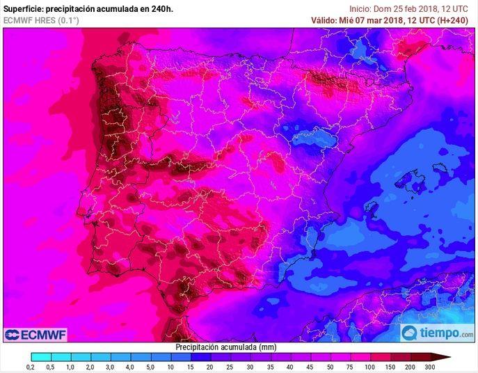 Mapas Con Precipitaciones Previstas Fuera De Escala: Inundaciones A La Vista