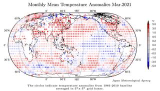 Marzo de 2021 a nivel global: el sexto más cálido según JMA