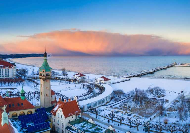 Verschneites Polen