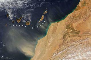 Más polvo desde el norte de África