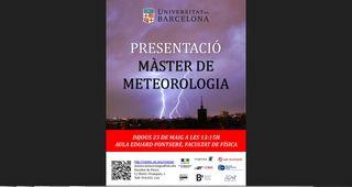 Máster de Meteorología, Facultad de Física de Barcelona