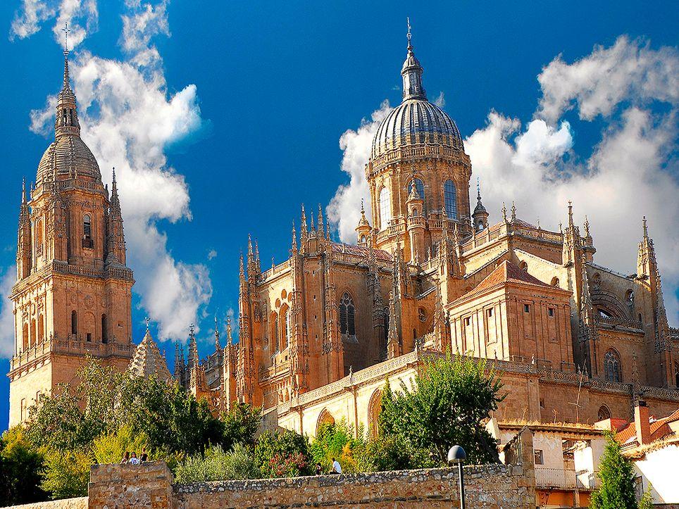 Catedral Nueva de Salamanca, el valor más alto de la máxima en este mes data del día 28 de 1950.