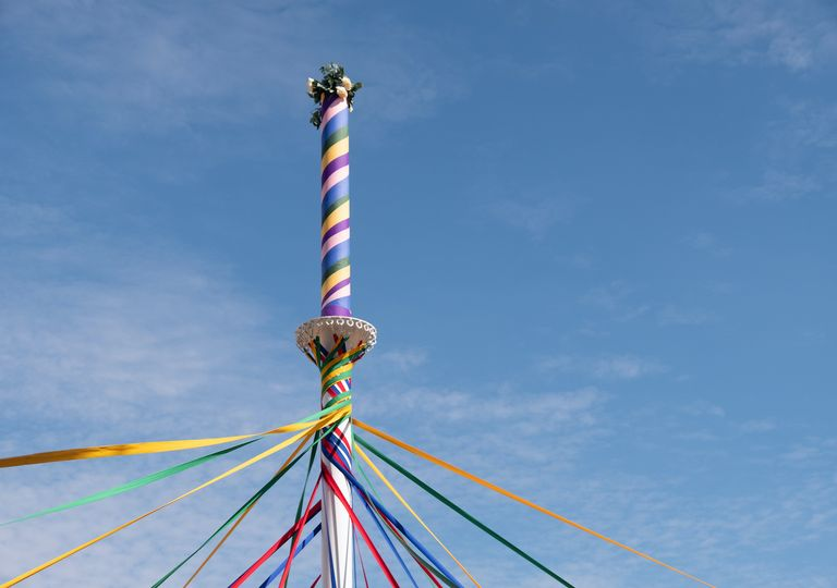 The maypole signifies May Day (1 May) for many of us.