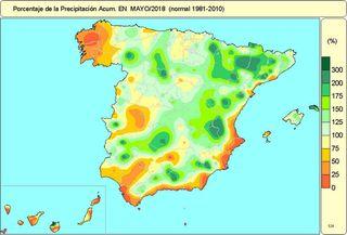 Mayo de 2018 en España: en torno a los valores normales según AEMET