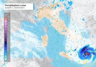 Udine: lo spettacolare medicane sullo Ionio che ora minaccia la Grecia