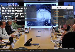 Mejores prácticas de exposición verbal para ciclones tropicales