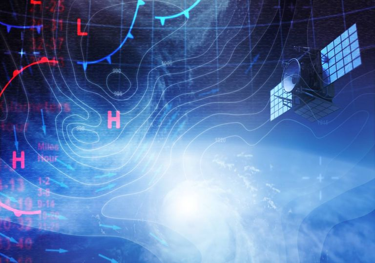 carta sinóptica; satélite meteorológico