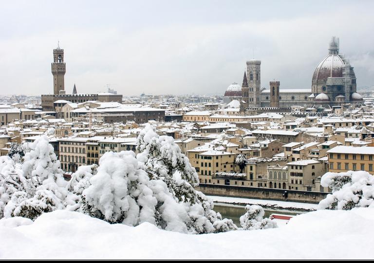 Neve su Firenze