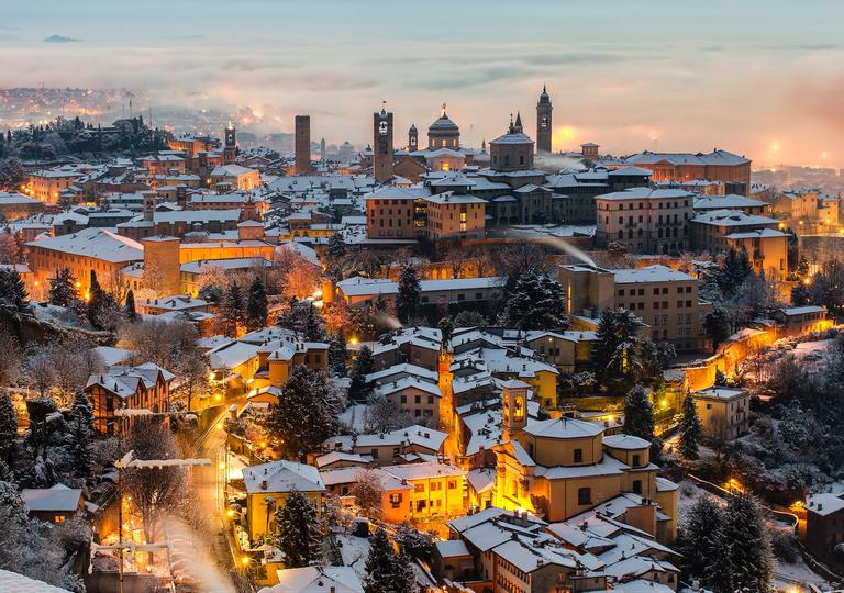 Neve a Bergamo e in tutte le province della Lombardia