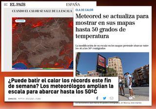 Meteored amplía la escala de temperaturas ante la crisis climática