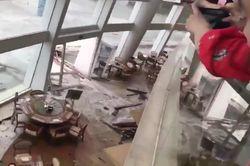 A fúria do tufão Mangkhut em Hong Kong