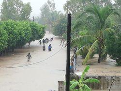 Alterações climáticas e chuva forte