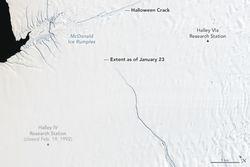 Antártida: Importante rompimiento de hielo está en camino
