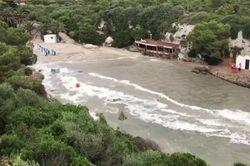 Así fue la potente rissaga de ayer en Menorca