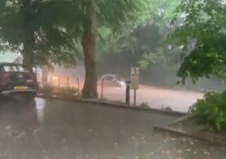 'Biblical' storms bring a month's rainfall to parts of London