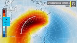 Calentamiento estratosférico repentino antártico y hemisferio norte