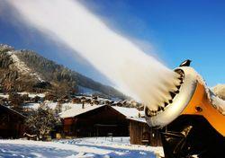 Cañón de nieve: la máquina que fabrica copos artificialmente