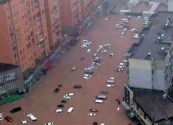 Las lluvias más intensas en 1000 años en Henan, China