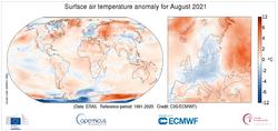Copernicus: El verano de 2021, el más cálido en Europa