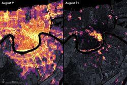 Cortes de energía en Nueva Orleans causados por el huracán Ida
