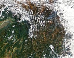 Crestas nubladas en Yunnan