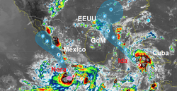 Dos poderosos huracanes amenazarán a Norteamérica: Ida y Nora