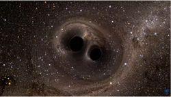 El efecto Fujiwhara entre dos agujeros negros