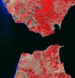 El estrecho de Gibraltar visto por Sentinel-2