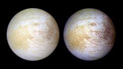 Hubble detecta vapor de agua en un hemisferio de Europa