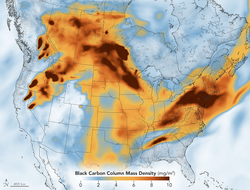 El humo de los incendios invade a América del Norte