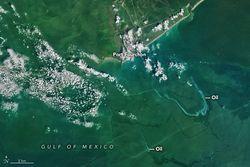 El huracán Ida deja un rastro de petróleo en el Golfo de México