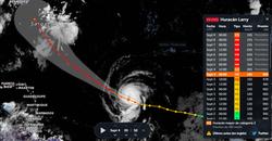 El huracán Larry alcanza la categoría 3 e irá a más