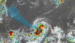 El huracán Larry más fuerte: dos zonas más monitorizadas por el NHC